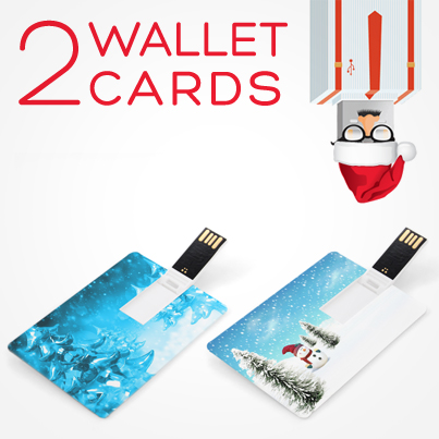 12 Days USB Xmas Wallet Card Micro Flip