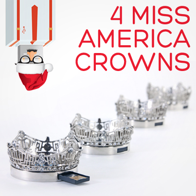 12 Days USB Xmas Miss America Crowns