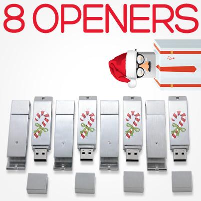 12 Days USB Xmas Opener USB Drive
