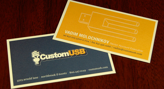 CustomUSB Business Cards