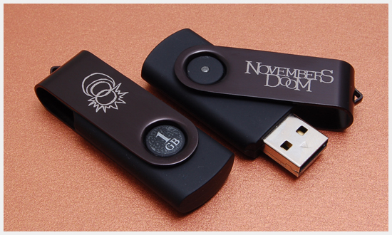 Novembers Doom Spin USB Drives