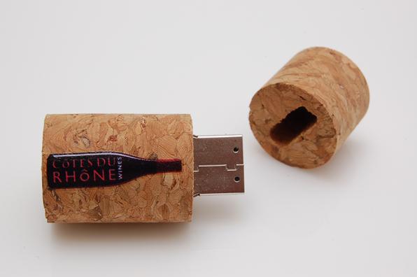 Cotes Du Rhone Wines Cork USB
