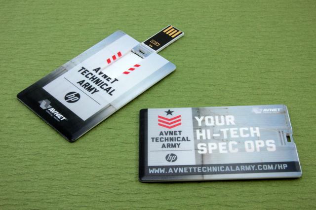 HP Avnet Technical Army Wallet Mini Flip USB Drive