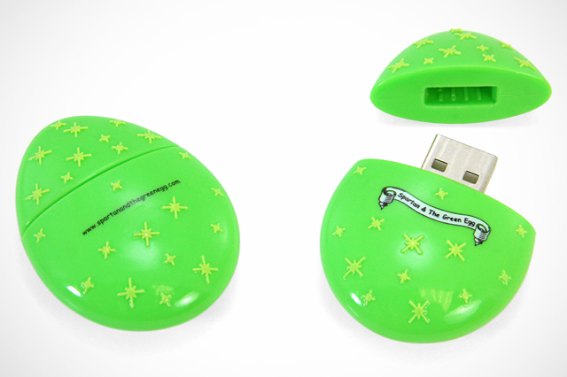 Custom Egg USB Drive for Spartan and the Green Egg