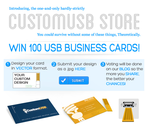 Win 100 USB Business Cards
