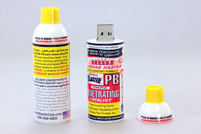 PB Blaster Custom Penetrating Catalyst Can USB Drive