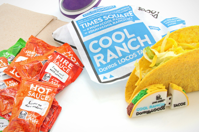 Taco Bell Cool Ranch Doritos Locos Taco Custom USB Drive