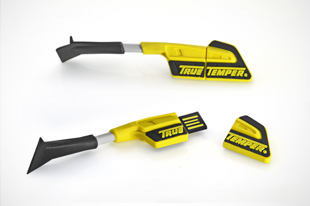 True Temper Scratch-Free Snow Brush Replica Custom USB Flash Drive