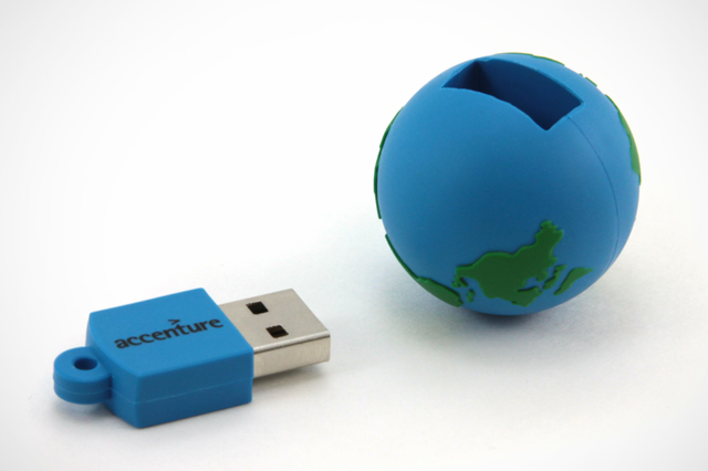 Accenture Custom Earth USB Drive