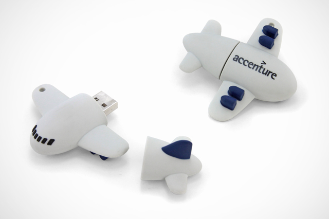 Custom Accenture Airplane USB Drives