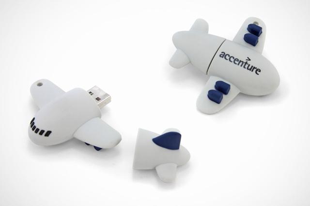 Custom Accenture Airplane USB Drives