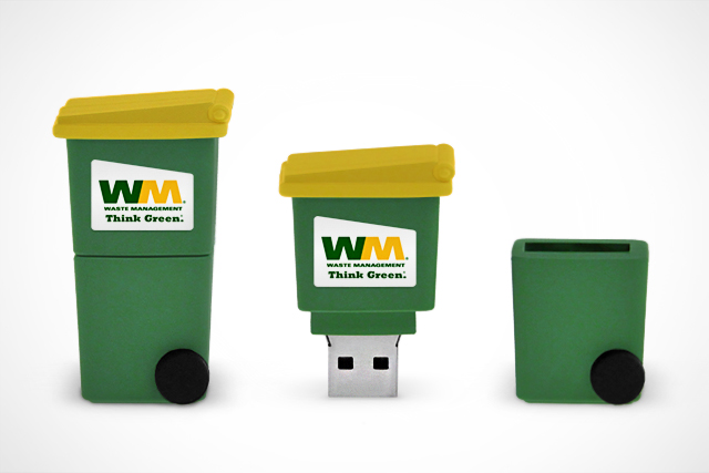 CustomUSB Flash Drive | Waste Management Recycling Bin Replica