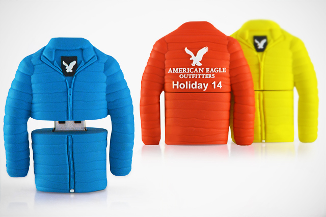 American Eagle Winter Jacket Custom USB Flash Drive