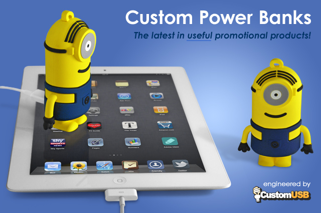 CustomUSB | 100% Custom Shape Power Bank