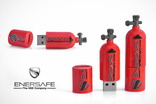 ENERSAFE Fire Extinguisher - Custom USB Flash Drive
