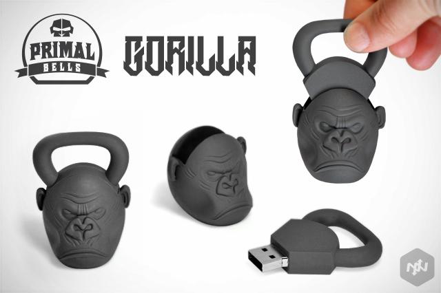 CustomUSB | Onnit - Gorilla Kettlebell - Replica Flash Drive